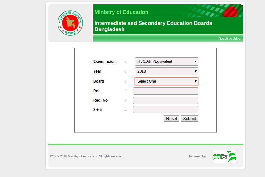 Bangladesh Result