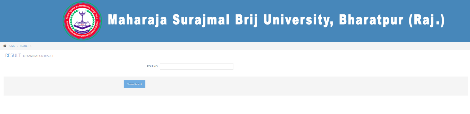 Brij MSBU University Result 2018