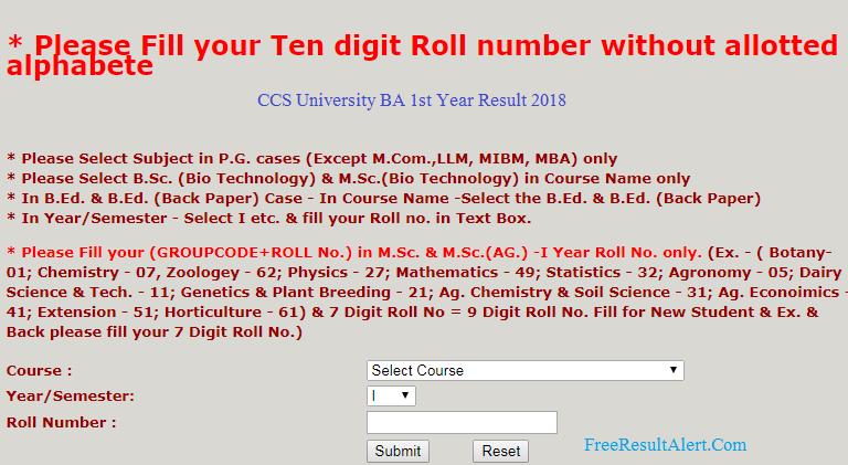 CCSU Result 2018