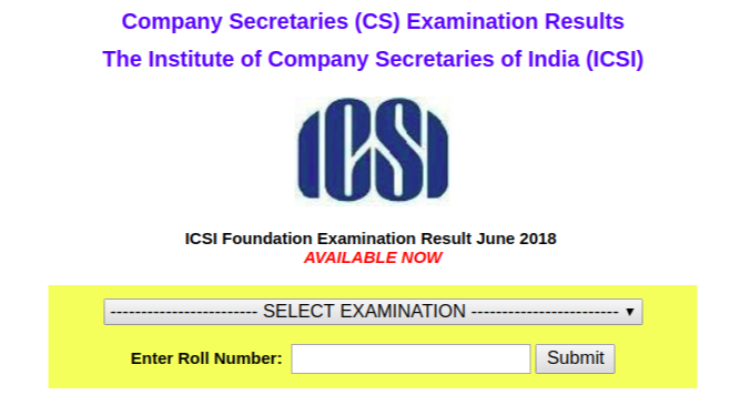 CS Foundation June 2018 Result