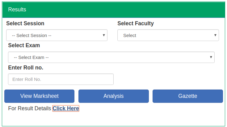 Gondwana university result 2018