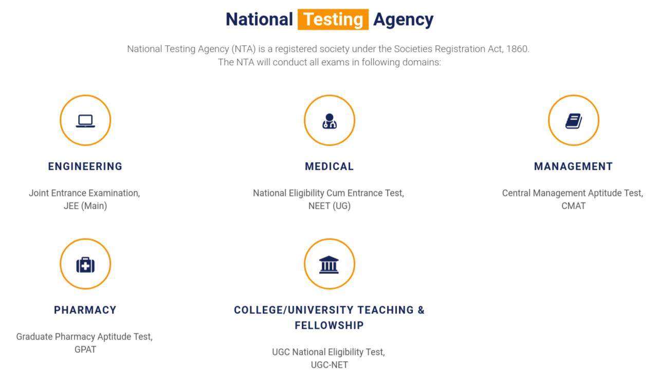 NTA 2019 Courses