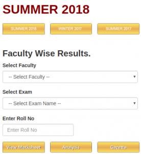 rtm university Result