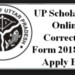 UP Scholorship Form Correction