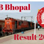 RRB Bhopal Results 2017