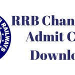 RRB Chandigarh Admit Card