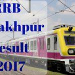 RRB Gorakhpur Results 2017