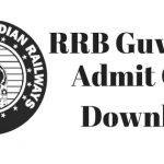 RRB Guwahati Admit Card