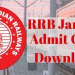 RRB Jammu Admit Card