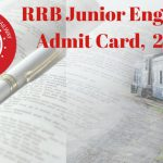 RRB Junior Engineer Admit Card 2018