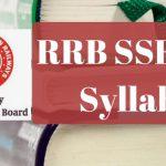RRB SSE 2017 Syllabus