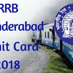 RRB Secunderabad Admit Card 2018