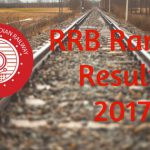 RRB Ranchi Result 2017