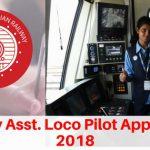 Railway Loco Pilot Application Form 2018