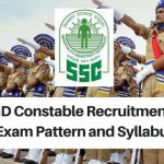 SSC GD Constable 2018 Exam Pattern and Syllabus