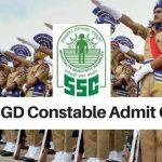 SSC GD Constable Admit Card 2018