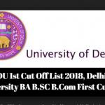 DU First Cut off 2018