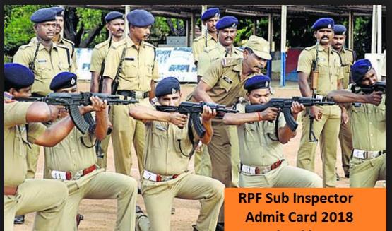 Railway RPF Admit Card 2018