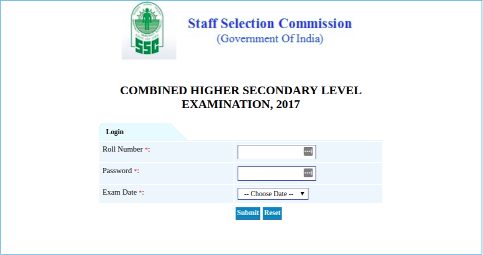 SSC CHSL 2017 Tier I Answer Key