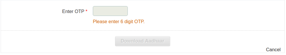 Step 7 To Download Aadhaar Card By Aadhaar Number