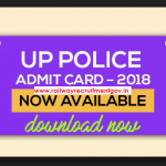 UP Police constable admit card 2018 download