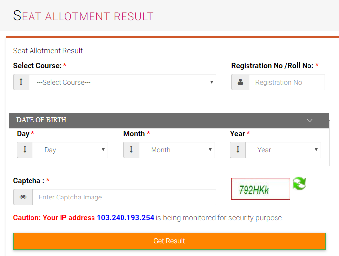 UPBTC Seat Allotment Result out