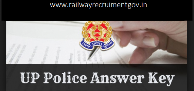 UP Police Exam Answer Key 2018 Out: UPP Constable 25th