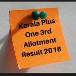 Kerala puls one 3rd round supplementary result 2018