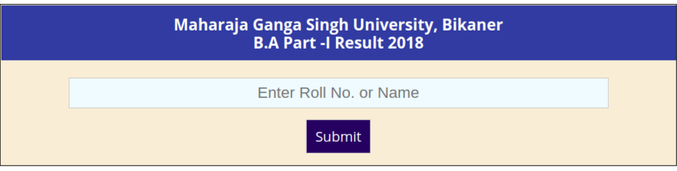 MGSU BA 1st Year Result 2018