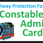 Railway police RPF Constable Admit Card 2018