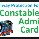 Railway police RPF Constable Admit Card 2018