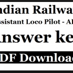 RRB ALP(loco pilot) & Techician Group C Answer Key 2018 download