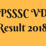 UP VDO result 2018