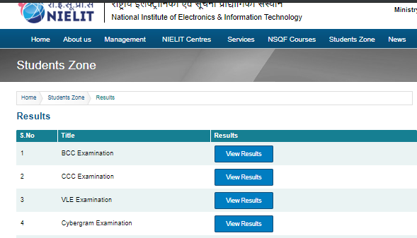 CCC Result 2019: NIELIT CCC Result Download for ECC & other courses