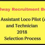 RRRB ALP & Technician Selection Process 2018