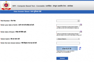 RPF Constable Group E Answer Key