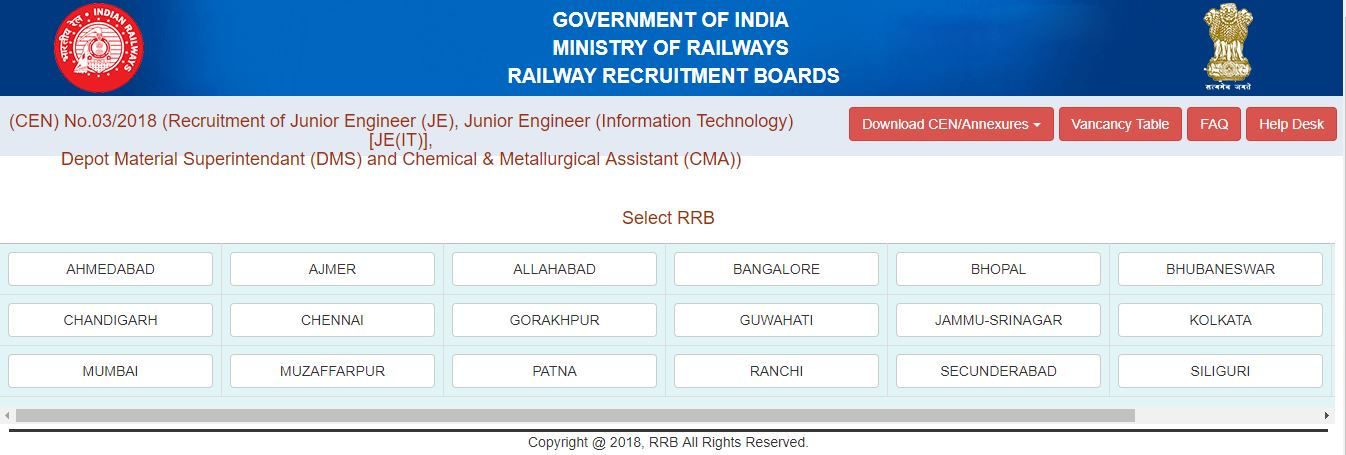 RRB JE Application
