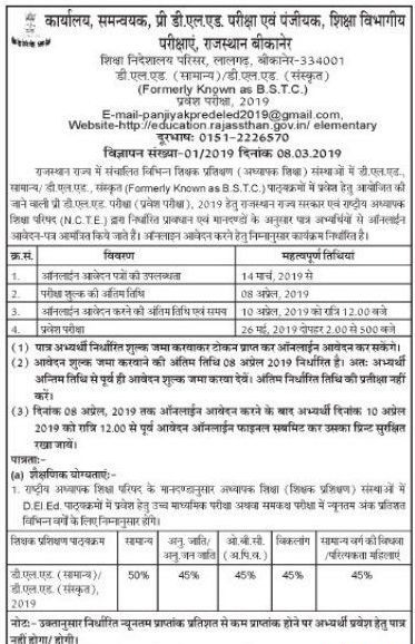 bstc 2019 notification