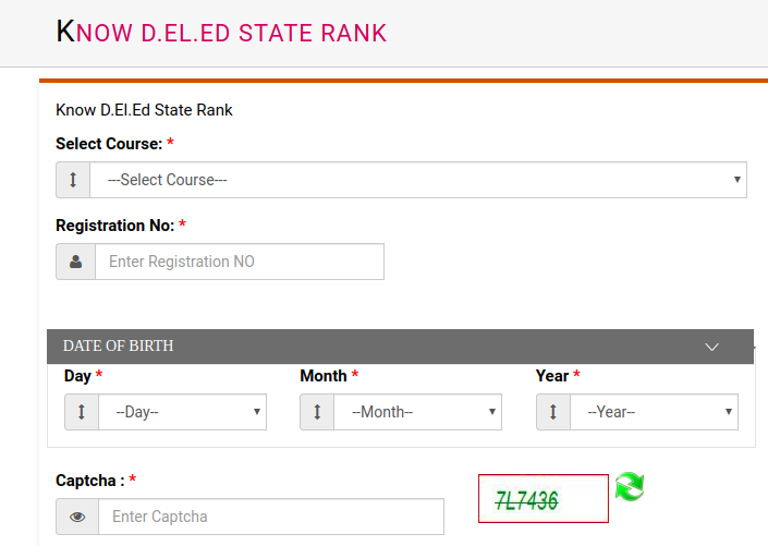 UP Deled state rank 2019