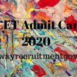 kcet admit card 2020